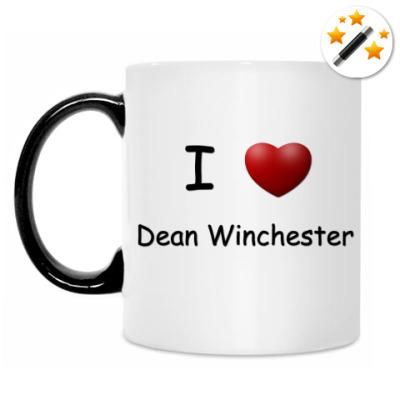 Кружка-хамелеон I Love Dean