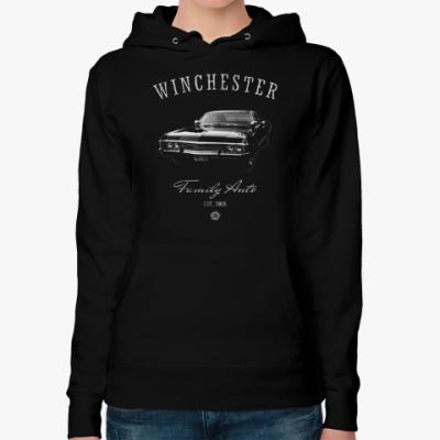 Женская толстовка худи Winchester Family Auto
