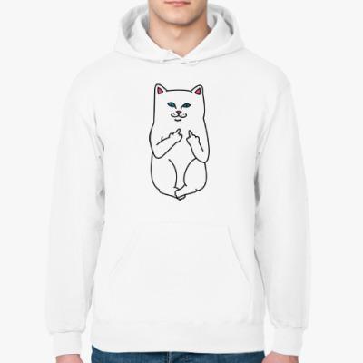 Толстовка худи Kitty with fuck