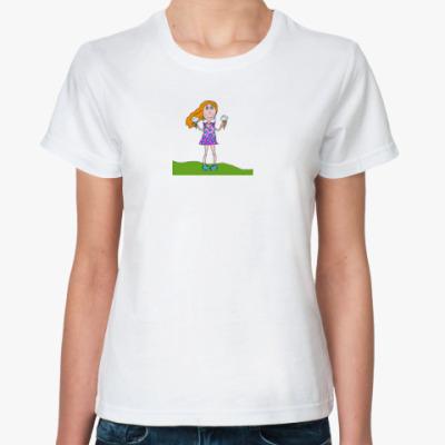 Классическая футболка Девочка с мороженым