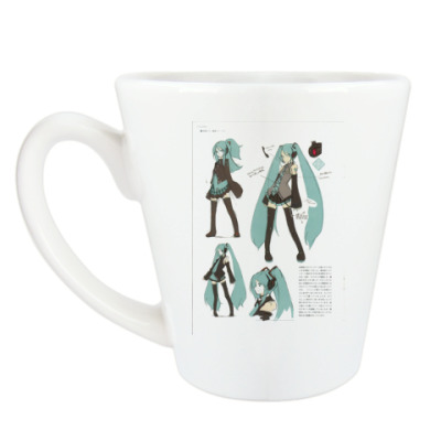 Чашка Латте Hatsune Miku