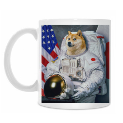 Кружка Doge Astronaut