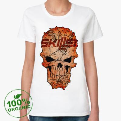 Женская футболка из органик-хлопка Skillet Skull