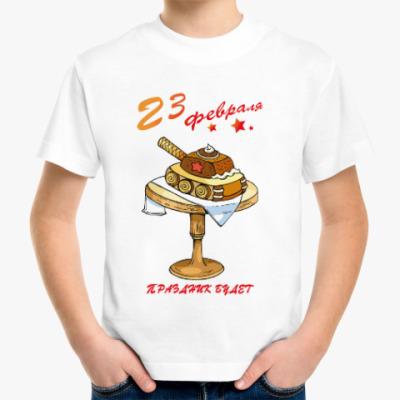 Детская футболка Танк торт