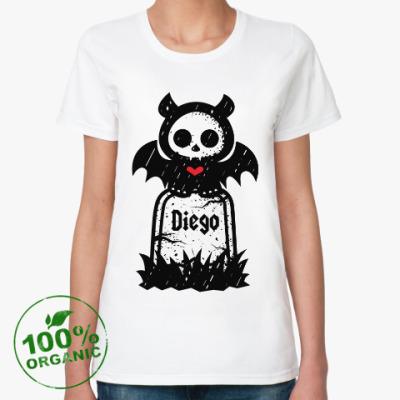 Женская футболка из органик-хлопка Диего Надгробие