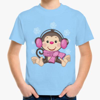 Детская футболка Обезьяна символ нового 2016 года