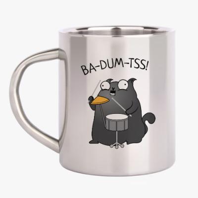 Кружка металлическая Кот Ba-Dum-Tss!