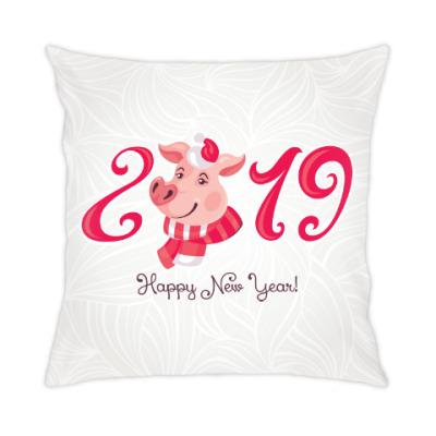 Подушка Новогодняя Свинка 2019