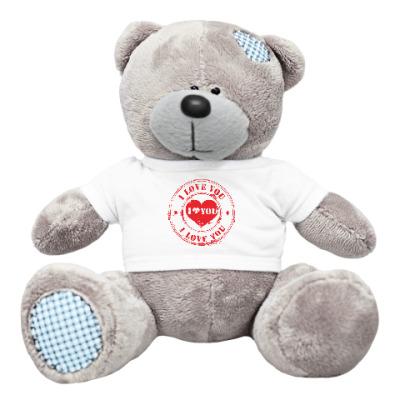 Плюшевый мишка Тедди Печать I Love You