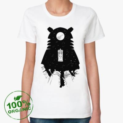 Женская футболка из органик-хлопка Доктор Кто