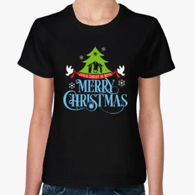 Женская футболка Рождество. Новый год.