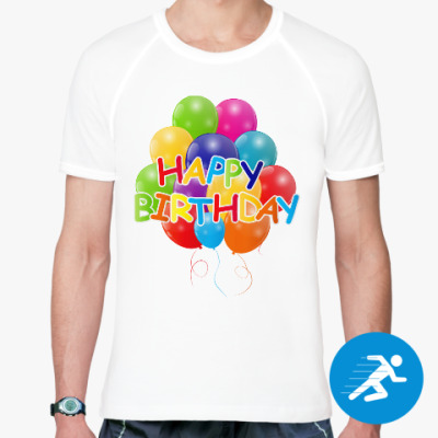 Спортивная футболка Happy Birthday