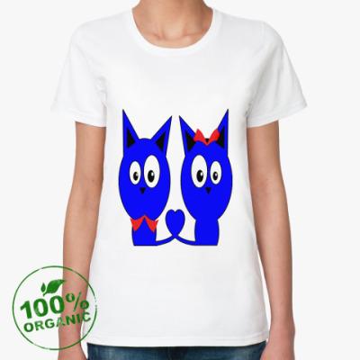 Женская футболка из органик-хлопка Коты