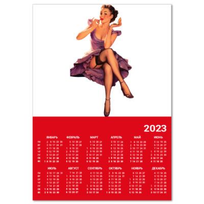 Календарь  A4 Девушка №16*11