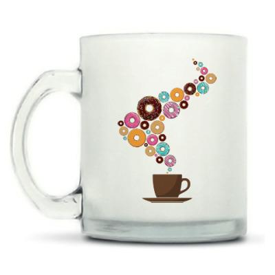 Кружка матовая Кофе с пончиками