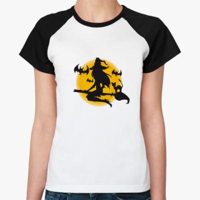 Женская футболка реглан «Ведьма»