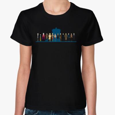 Женская футболка Доктор Кто 8 бит