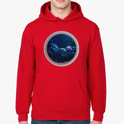 Толстовка худи Вид из иллюминатора подводной