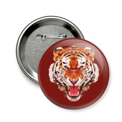 Значок 58мм Тигр