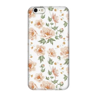 Чехол для iPhone 6/6s Цветы пионы