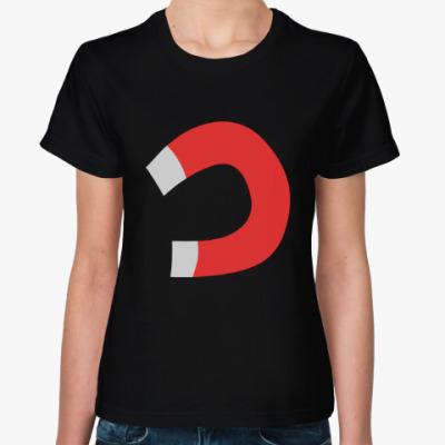 Женская футболка Тянет, как магнитом