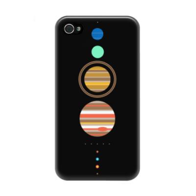 Чехол для iPhone 4/4s Солнечная система минимализм