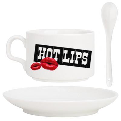Кофейный набор Горячие губки/HOT LIPS