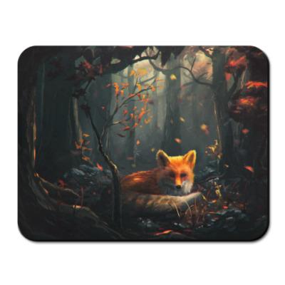 Коврик для мыши Лисенок в лесу
