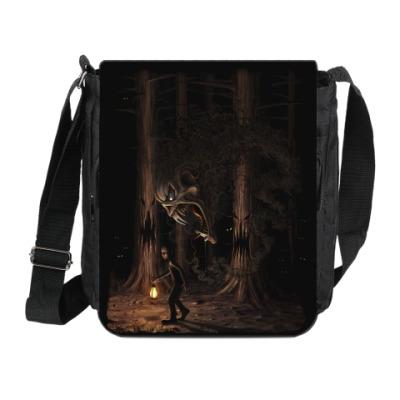 Сумка на плечо (мини-планшет) Ночная тварь из леса