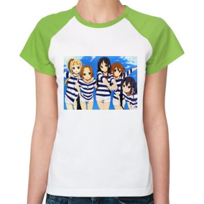 Женская футболка реглан K-ON