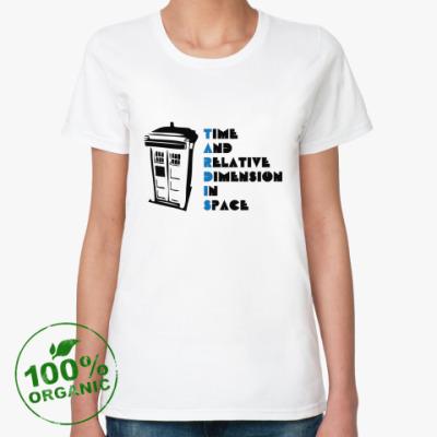 Женская футболка из органик-хлопка Тардис