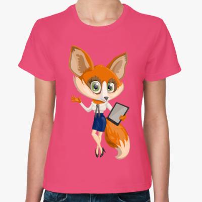 Женская футболка Лисичка
