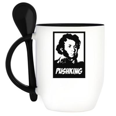 Кружка с ложкой Пушкин
