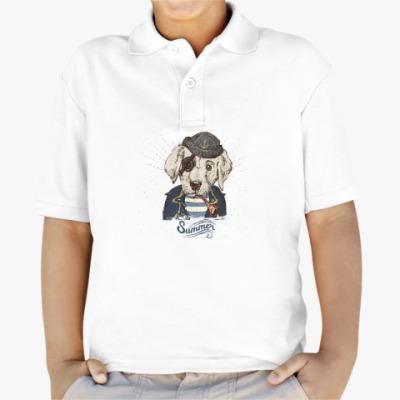 Детская рубашка поло Пиратский собака