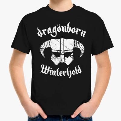 Детская футболка Skyrim . Dragonborn