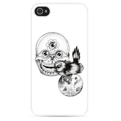 Чехол для iPhone Skull&bird