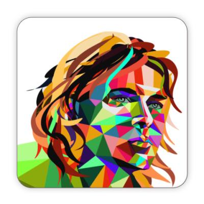 Костер (подставка под кружку) Triangle Portrait