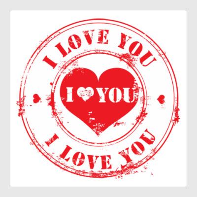 Постер Печать I Love You