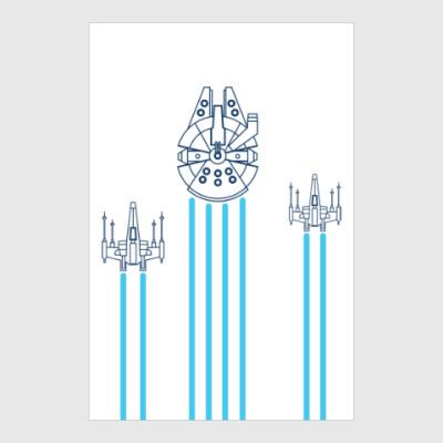 Постер звёздные войны (Star wars)