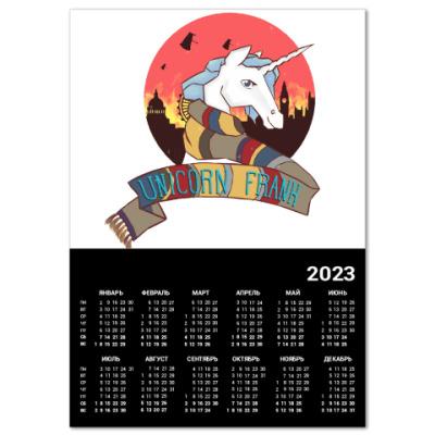 Календарь Рождественский Единорог в стиле Доктора Кто