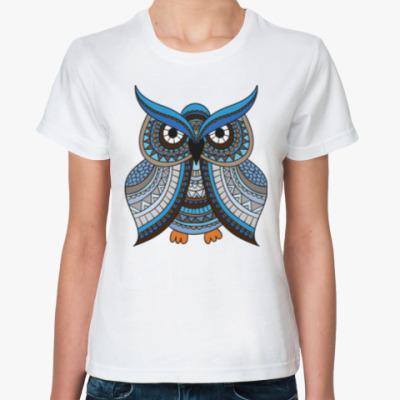 Классическая футболка Мудрая сова