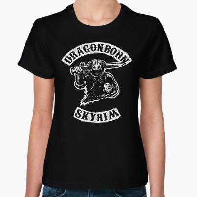 Женская футболка Dragonborn Skyrim