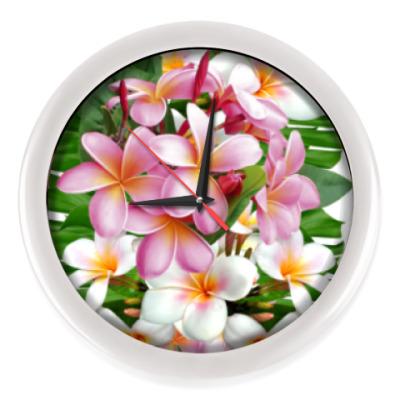 Настенные часы Тропические цветы