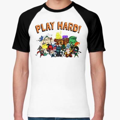Футболка реглан Play Hard!