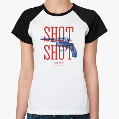 Женская футболка реглан Оружие СССР