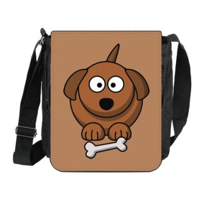 Сумка на плечо (мини-планшет) Собачка с косточкой