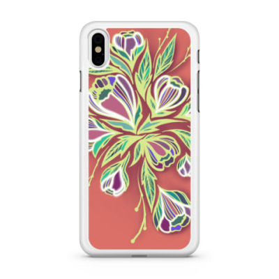 Чехол для iPhone Glowing flowers