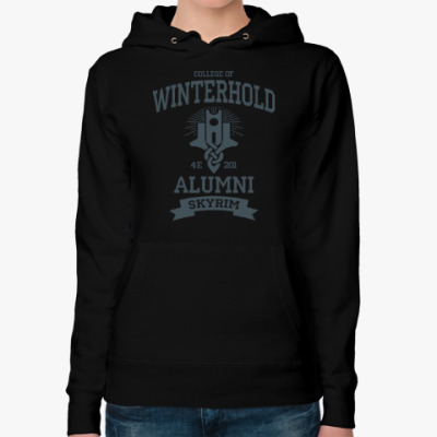 Женская толстовка худи Skyrim College of Winterhold