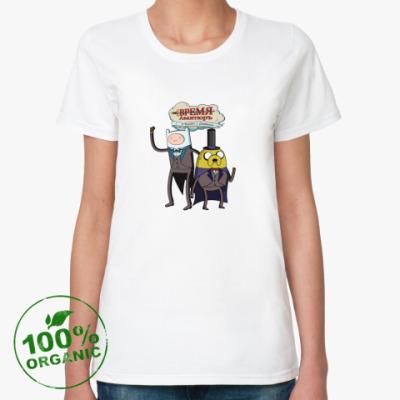 Женская футболка из органик-хлопка Время Авантюръ