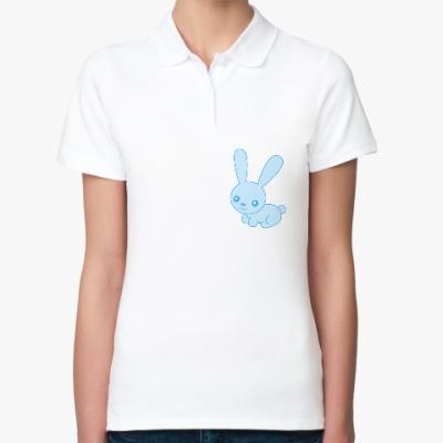 Женская рубашка поло Зайка